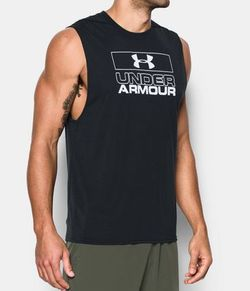 REGATA UNDER ARMOUR GRAPHIC MUSCLE NEGRO MASC Cod:1289908-001