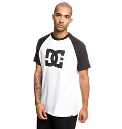 REMERA DC SHOES STAR SS RAGLAN M TEES BLANCO/AZUL Cod:T03917XBBW