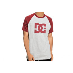 REMERA DC SHOES STAR SS RAGLAN M TEES GRIS/ROJO Cod:T03917XRRS
