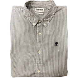 CAMISA TIMBERLAND LS SNCK RV STRP GRIS/BLANCO Cod:A10EFB68-B68