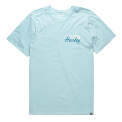 REMERA HURLEY WINGS UP CELESTE MASC M-C Cod:AA1767452