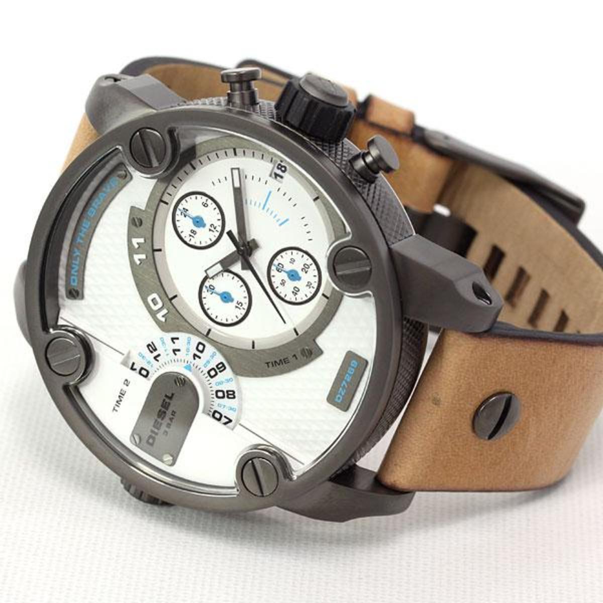 c9cd6090b09b reloj diesel hombre cuero