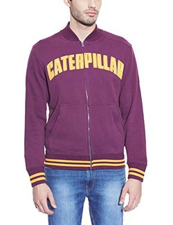 CAMPERA CAT VARSITY BORDO MASC XL Cod:2910883-55
