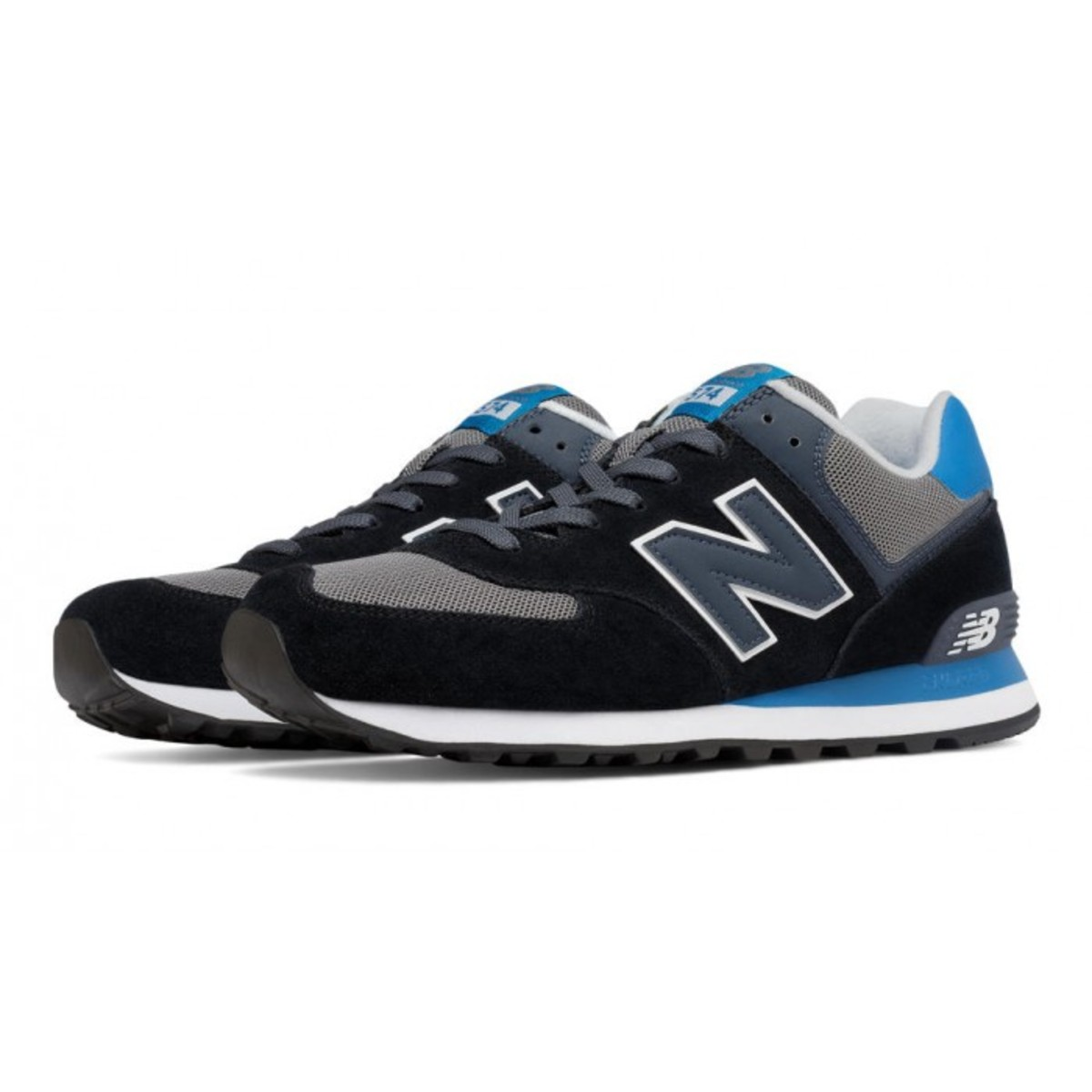 new balance 574 negro azul
